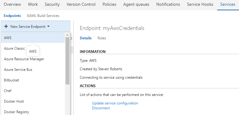 aws endpoint